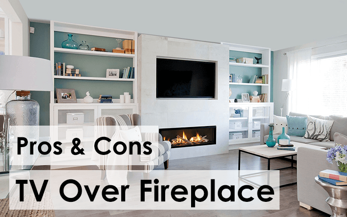 Pros and Cons of Mounting Your TV Over Your Fireplace